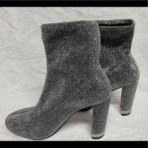 Michael Kors Mandy Glitter Stretch-Knit Ankle Boot